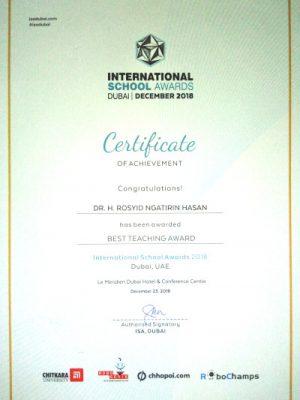 International School Award 2018