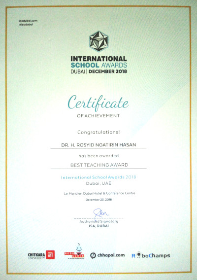 International School Award 2018