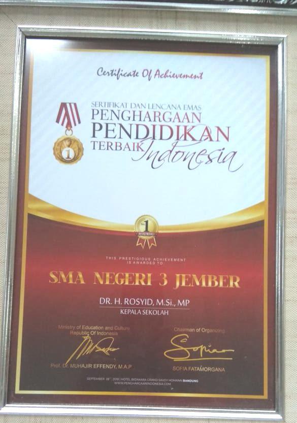 Penghargaan Pendidikan Terbaik Indonesia tahun 2018