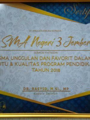 SMA Unggulan Anugerah Pendidikan 2018