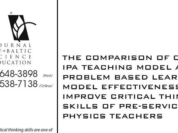 JURNAL - Meningkatkan Hasil Belajar Fisika Menggunakan Model Orientasi IPA (PBL Dan Multi Representasi) Pada Konsep Mekanika Di SMA