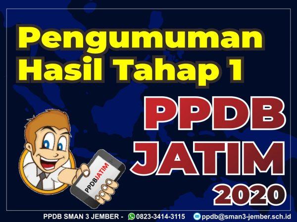 Pengumuman Hasil dan Daftar Ulang PPDB Jatim 2020 Tahap 1