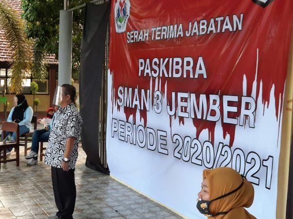 Serah Terima Jabatan PASKIBRA SMAN 3 Jember Periode 2020/2021