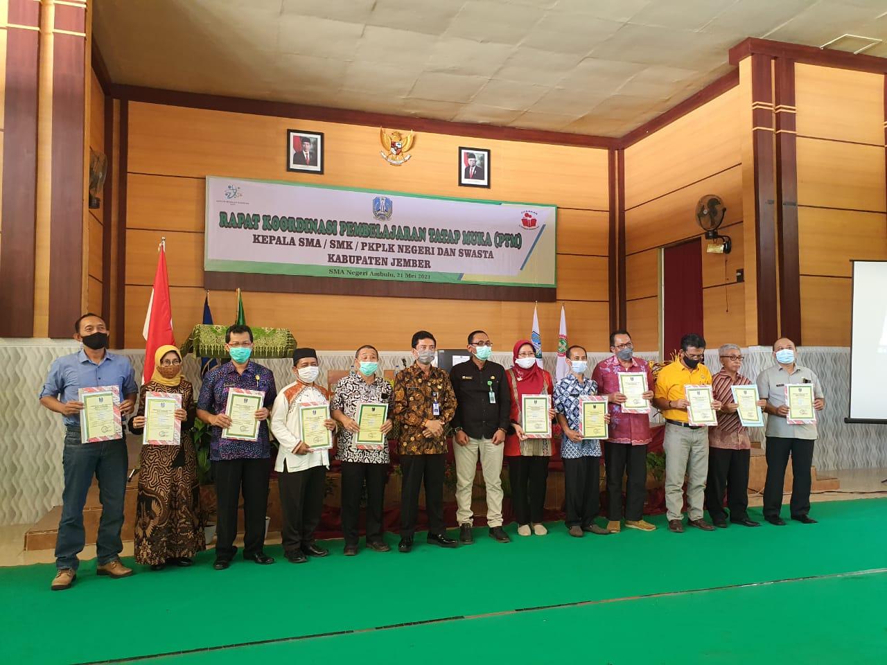 Rapat Koordinasi Pembelajaran Tatap Muka ( PTM )