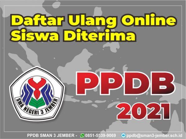 Daftar Ulang Online Siswa diterima di PPDB Tahun 2021